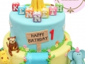 birthday cake fondant jungle