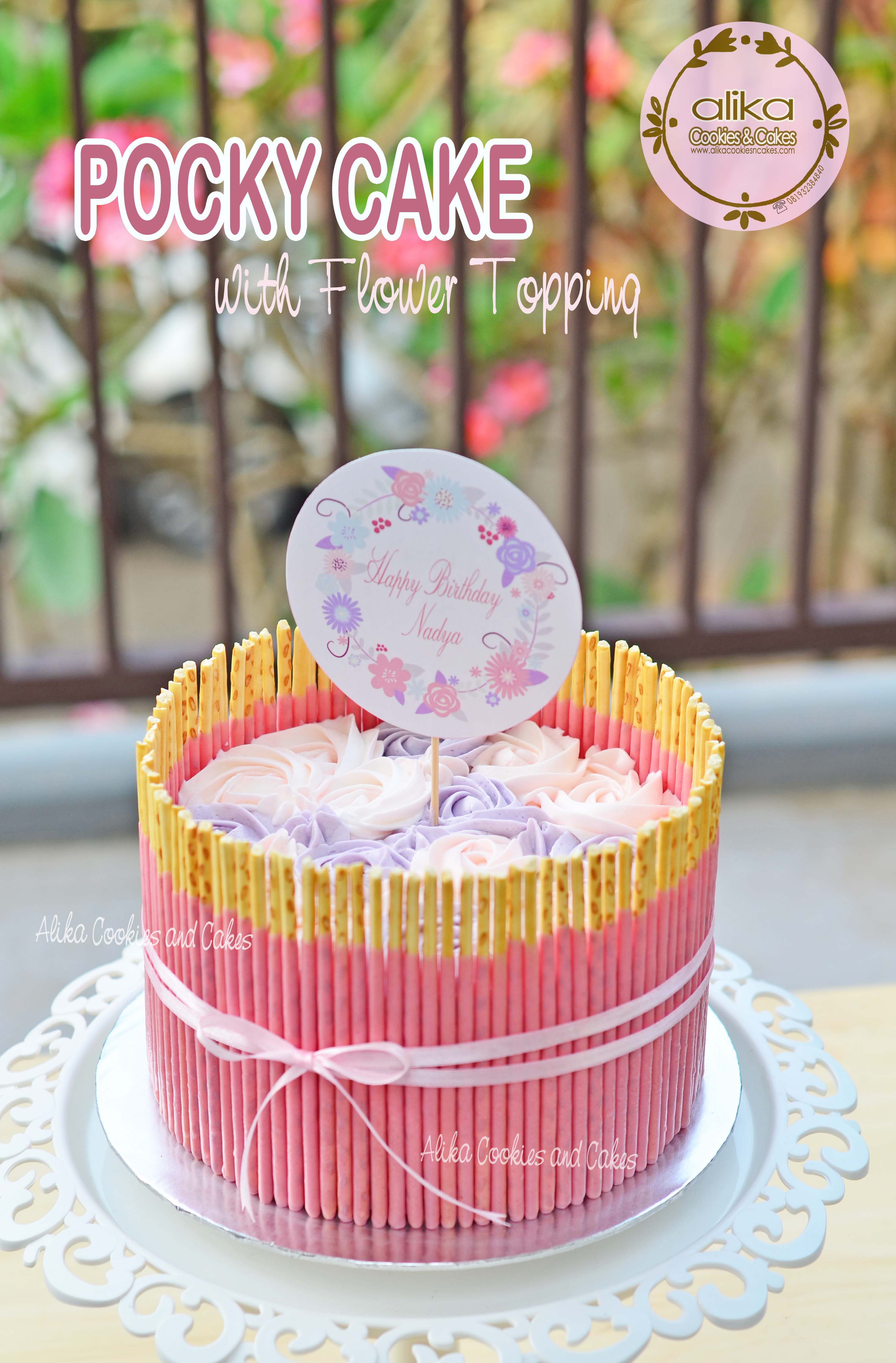 pocky cake_withFlower_Topping_2