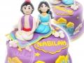 Cake Fondant Aladin and Jasmin